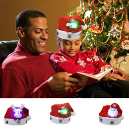 $enCountryForm.capitalKeyWord NZ - Lovely Snowman Christmas Hat LED Caps For Children New Year Xmas Kids Gift Home Decorations