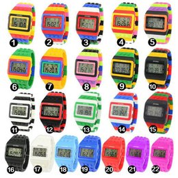 $enCountryForm.capitalKeyWord Canada - Children's electronic watch LED luminous children's watch Boy and girl plastic watch colorful color building blocks kid Baby Clock