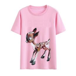 817e8bfb summer fashion Designer clothing luxury Brand mens T-shirt PINK deer  flowers tshirt short sleeve letter print t shirt tee tops