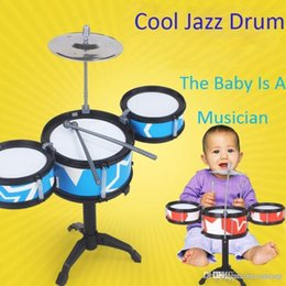 2018 Plastic Drums For Kids Blue Percussion Drum Set Musical Instrument Rack
