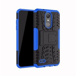 Shock Proof Phone Cases UK - For LG aristo 2  X210 lg Tribute Zone 4 DynastHeavy Shock Proof Shell Cover Rugged Hybrid Case For LG Armor K8 2018 2 in 1 Phone Back Cover