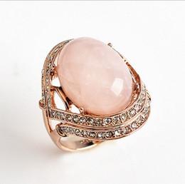 Rose Quartz Rings NZ - Genuine Rose Gold Rose Quartz Engagement Eternity Ring size 9