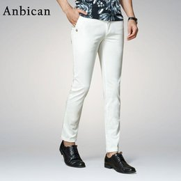 a63f87ca005c Wholesale- Anbican Fashion White Casual Pants Men 2017 Spring and Summer  Office Work Mens Slim Dress Pants Straight Male Chino Trousers
