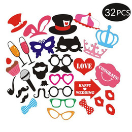 Mustache Birthday Party Decorations Australia - 32Pcs High Quality Mask Photo Wedding Shoot Creative Selfie Mustache Props For Party Decoration Birthday Event & Party Supplies