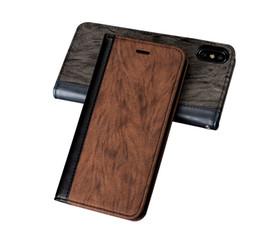 Black Blocks Australia - Color Blocking PU Leather Wallet Flip Case with Card Money Slots For iPhone X 7 8 7 8PLUS Galaxy S8 S8PLUS