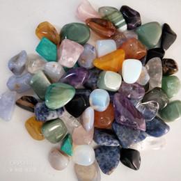 Reiki Healing Wholesalers Australia - 1 lb assorted tumbled gemstone mixed stones natural rainbow amethyst aventurine colorful rock mineral agate for chakra healing reiki