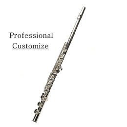 Discount keyed flute - Professional C Flute 271S Flute 16 Hole Openings Plus E Key Surface Silver Plated Flauta High Quality Musical Instrument