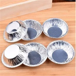 ChoColate eggs online shopping - Disposable Tin Foil Egg Tart Mould Heat Resisting Cake Mold Kitchen Baking Tool yy C R