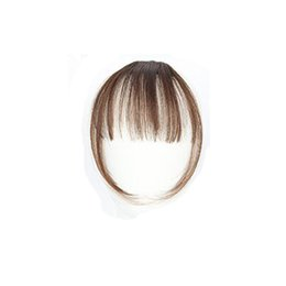 Thinning hair bangs online shopping - Dropship pc Pretty Girls Clip On Clip In Front Hair Bang Fringe Hair Extension Piece Thin JU14