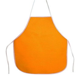 Smock apronS online shopping - New Design Children Kid Non Woven Fabrics Waterproof Sleeveless Diy Painting Drawing Art Craft Smock Eating Apron Random Color