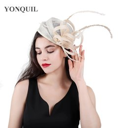 crinoline hair NZ - high quality beige cocktail hats kentucky derby crinoline fascinator headwear nice colorful mesh wedding hair accessories SYF405