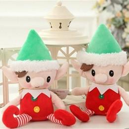 feeling toys 2018 - Christmas Elf Plush Toys 30cm Cute Spirit Doll Stuffed Toy Santa Deco Elves Gift Prize Feel Comfortable 9lj WW discount