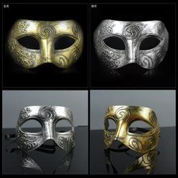 Celebrity Masquerade Ball Australia - New retro plastic Roman knight mask Men and women's masquerade ball masks Party favors Dress up