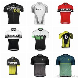 Discount team scott bicycle clothing - Ropa ciclismo 2018 scott Cycling Jersey Pro team short sleeve Summer road bike riding clothing Breathable Quick Dry bicy