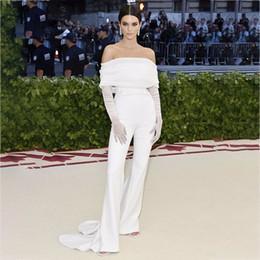 $enCountryForm.capitalKeyWord Canada - Ohvera Sexy Long Jumpsuits For Women 2018 Off Shoulder White Jumpsuit Elegant Summer Overalls Kendall Jenner