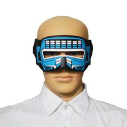 $enCountryForm.capitalKeyWord Australia - LED Glowing Voice-activated Music Mask Eye Masks Masks for Festival Party Dance Gift