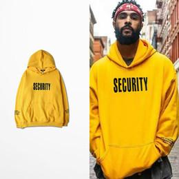 security men 2019 - Vfiles Security Print Hoodie Justin Bieber Fog High Street Sweatshirt Bibb Purpose Tour Yellow Hoodie Lovers Couple Bts