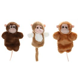 cute puppets UK - 1 Pc Cute Monkey Hand Puppet Family Role Pretend Playing Toy Baby Kids Child Developmental Soft Doll Plush Toy Christmas Gift