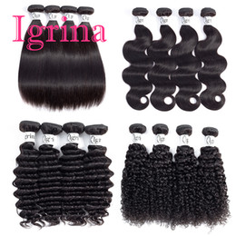 $enCountryForm.capitalKeyWord Australia - Igrina Indian Virgin Hair Straight Body Wave Loose Deep Curly 3 Bundles Deals Good Cheap Weave Remy Wet And Wavy Human Hair Extensions