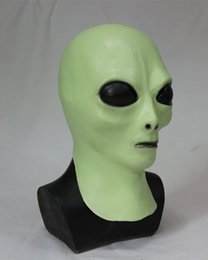 aliens props 2019 - 2018 High Quality China Suppier Decoration Luxury Movie Props Latex Mask For Men And Women Halloween Party Alien Cosplay