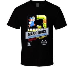 $enCountryForm.capitalKeyWord NZ - Mario Bros Arcade NES Black Box Art Video Game T Shirt Cool Casual pride t shirt men Unisex New Fashion tshirt Loose Size top ajax