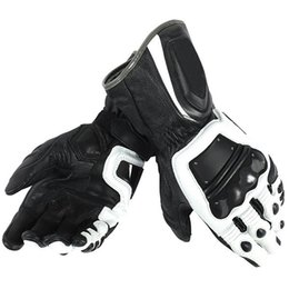 $enCountryForm.capitalKeyWord Australia - free shipping 2018 Dain 4 Stroke Long White black Adult Cowhide Leather Gloves Racing Glove Motorcycle Bike Glove