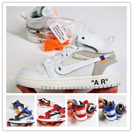 Signed Shoes Canada - PreSchool Jointly Signed High OG 1s Youth Kids Basketball Shoes Chicago New Born Baby Infant Toddler Trainers Small Big Boys Girls Sneakers