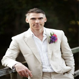 d4a0a5c0164e 2018 Summer Custom Made Men Suits Beige Wedding Suits For Man Tuxedo Slim  Fit Casual Bridegroom Groom Prom 2Piece Best Man (Jacket+Pants)