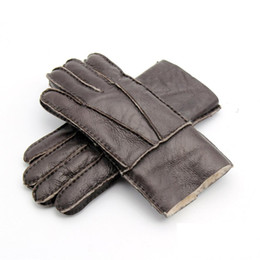 $enCountryForm.capitalKeyWord UK - New Men's Winter Gloves Leather Fur Gloves Sheepskin Wool Mittens Medium Thick Warm Leather Driving Male 8 Colors AGB690