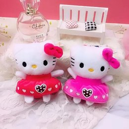 $enCountryForm.capitalKeyWord NZ - Nice 4 inch aromatherapy hellow kitty cat Super cute toy Plush Toys Soft Anime Stuffed Animals Doll Gifts for Kids Mini toys with keyring