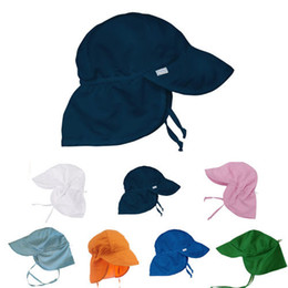 137d6c1168b UPF50+ Summer Newborn Unisex Baby Kids Sun Cap Cotton Bucket Hat UV  Protection Baby Cute Solid Bandage Sun Hats