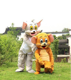 Professional Cartoon Costumes Australia - New Style Adult Cute BRAND Cartoon New Professional Cat And Mouse Mascot Costume Fancy Dress Hot Sale Party costume Free Ship