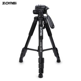 Wholesale Q111 Professional Portable Travel Aluminum Camera Tripod amp Pan Head For SLR DSLR Digital Camera For Camping Travel Stand