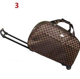 Ingrosso Borse da viaggio Aero Carry-On Rolling Trolley Bagaglio pieghevole leggero impermeabile Boston borsone da viaggio per le donne a breve termine viaggio