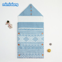 $enCountryForm.capitalKeyWord Canada - Winter Knitting Baby Sleeping Bags Autumn Envelopes For Newborns Discharge Thermal Hooded Infant Stroller Swaddle Wrap Blankets