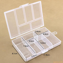 $enCountryForm.capitalKeyWord Canada - Hot Empty 6 Compartment Plastic Clear Storage Box For Jewelry Nail Art Container Sundries Organizer