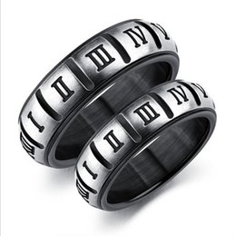 $enCountryForm.capitalKeyWord NZ - Stainless Steel Men Rings Jewelry Rome Number Couple Rings For Women and Men Fashion Jewellery Wholesale Free Shipping 0699WH