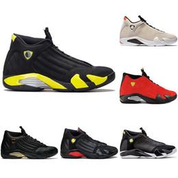 7cd675f412c623 New Mens 14 Designer Basketball Shoes The Last Shot DMP Desert Sand 14s Men  Sports Thunder Red Black Toe Sneakers size 41-47