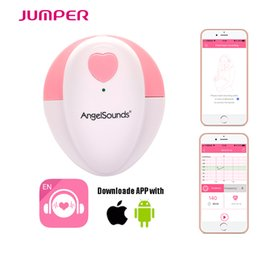Wholesale New Smart Portable Ultrasound baby doppler Home baby monitor wire connection Phone APP Pregnant Women Listen To Fetal Heart Tone Monitors