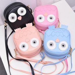 Owl Ladies Handbag Australia - Children Cute Purse Handbag Owl Women Messenger Bags Crossbody Shoulder Bag with Belt Strap Lady Mini Clutch Purses Phone Bags
