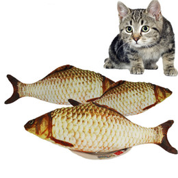 $enCountryForm.capitalKeyWord Australia - Cat Favor Fish Dog Toy plush Stuffed Fish Fish Shape Cat Toys catnip Scratch Board Scratching Post For Pet Dogs Product Supplies
