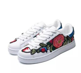 Luxury New Men Women Low Top Casual Shoes Fashion Designer Flower 3D Embroidery Sneakers 3 Color Flats Free Shipping wiki cheap price cheap sale sneakernews buy cheap low price IG52p01YS