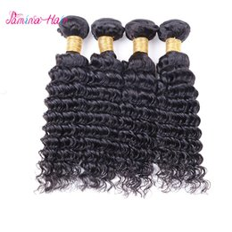 Virgin Human Hair 28 Australia - Pamina Hair Brazilian Deep Wave Curly Virgin Remy Bundles Natural Black 100% Human Hair Bundles Remy Virgin Hair Extension