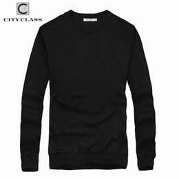 $enCountryForm.capitalKeyWord Australia - Fashion- City Class Nice Mens V-neck Sweaters Spring Autumn Solid Color Long Sleeve Plus Size Cotton Knitted Sweater For Male 2551