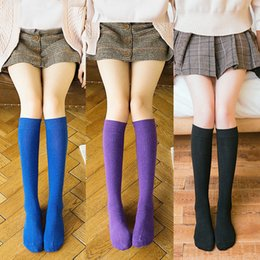$enCountryForm.capitalKeyWord NZ - Sexy Medias Fashion Striped Knee Socks Women Cotton Thigh High Over The Knee Stockings for Ladies Girls 2018 Warm Long Stocking S1017