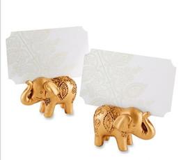 Горячее надувательство 500 шт. / лот свадьбы пользу партия выступает счастливый Золотой слон место Имя держателя карты украшение стола lin4813
