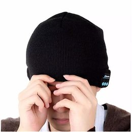 Wireless Usb Music Headphones Canada - Sports Smart Cap Bluetooth Headset wireless Colorful Music Warm Winter Knitted Hats Stereo handsfree headphone for smartphone