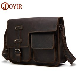 JOYIR Messenger Bag Men s Shoulder Bag Genuine Leather Business Handbag  Crazy Horse Male Man Vintage Crossbody Bags Leather 7dc97b2ee7