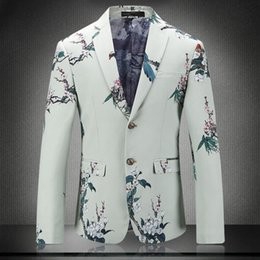f1fa4c55ae 2018 Spring And Summer New Gentleman Suit Men s Business Casual Fashion  Youth Print British Style Temperament Professional Wear