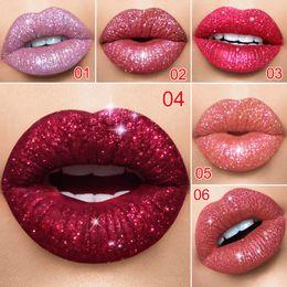 Lips Metallic Lip Gloss Glitter Flip Matte Liquid Lipstick Sexy Nude Lipstick Waterproof Pearl Non-stick Cup Lip Makeup 18 Color Makeup